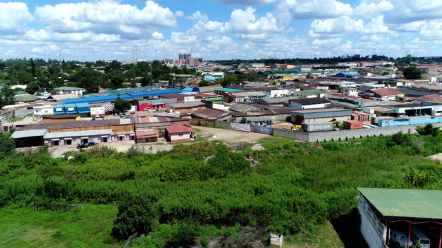 Zambia - Track over an Urban area of Kitwe