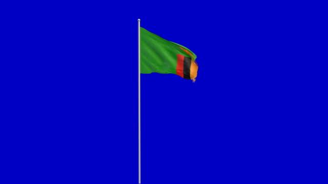 zambian flag rising