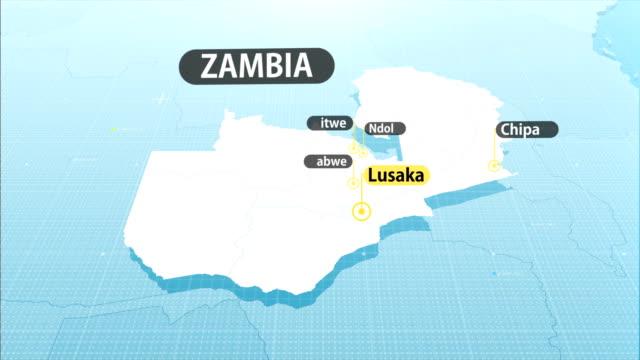 zambian map - zambia stock videos & royalty-free footage