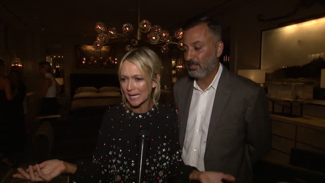 interview zanna roberts rassi and mazdack rassi on what drew them to rh new york tonight what their favorite rh piece has been over the years what... - audio hardware stock videos & royalty-free footage