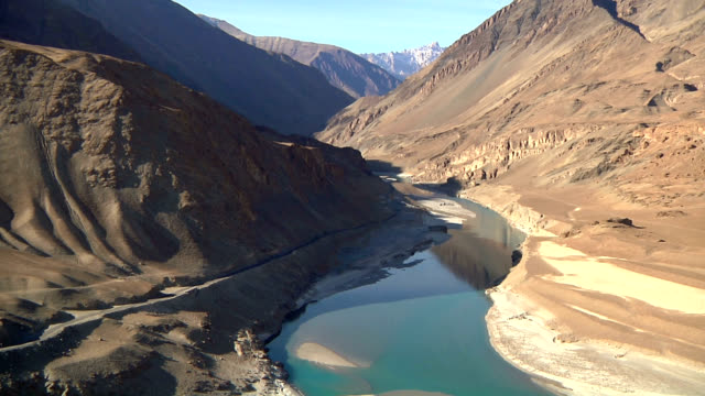 zanscar river and indus river - pakistan stock videos & royalty-free footage