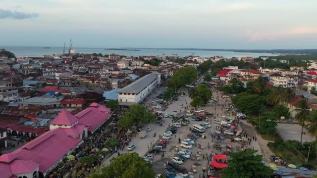 aerial zanzibar city - indigenous culture stock videos & royalty-free footage