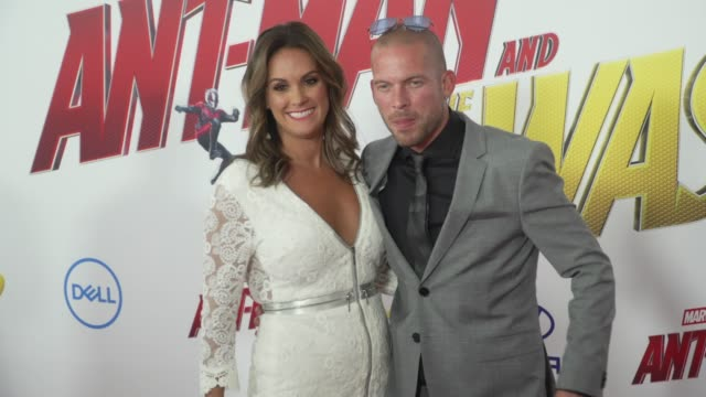 Zarah DeSilva and Collie Buddz at the 'AntMan and the Wasp' World Premiere at the El Capitan Theatre on June 25 2018 in Hollywood California