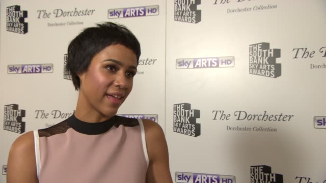 INTERVIEW Zawe Ashton on Fresh Meat and her directorial debut at South Bank Sky Arts Award at Dorchester Hotel on January 27 2014 in London England
