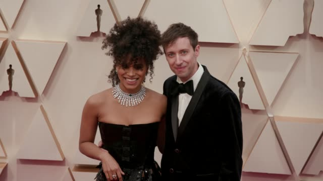 zazie beetz and david rysdahl at the 92nd annual academy awards at dolby theatre on february 09 2020 in hollywood california - academy awards stock videos & royalty-free footage