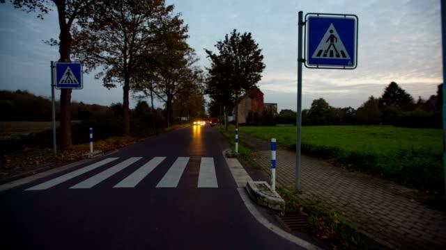 STEADY CAM : Zebra traffic walk way