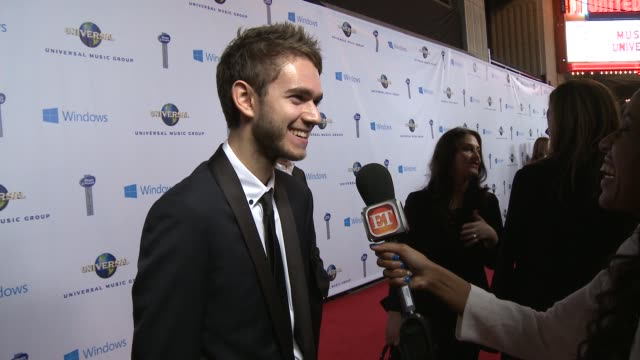 Zedd at Universal Music Group 2014 Post Grammy Party at The Ace Hotel Theater on in Los Angeles California