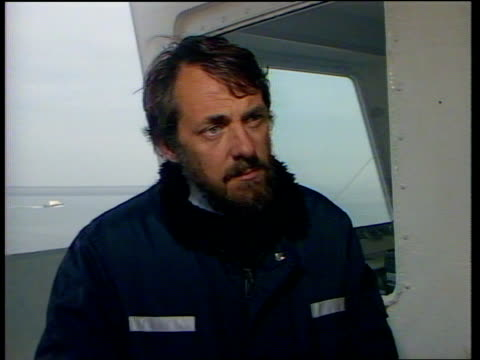 rescue coordinator submits report belgium zeebrugge harbour ext malcolm shakesby interview sof captain john scott interview sof - john scott stock videos and b-roll footage