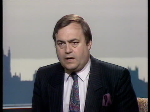 "zeebrugge ferry disaster: summonses issued:; england: london: westminster studio: int cms john prescott mp intvw sof. ""well bearing in mind -- other... - passenger craft stock videos & royalty-free footage"