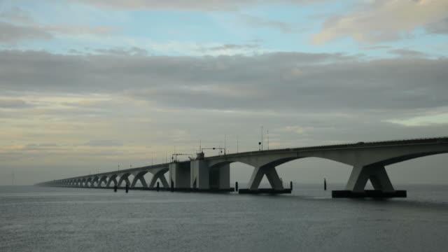 Zeeland bridge - time lapse