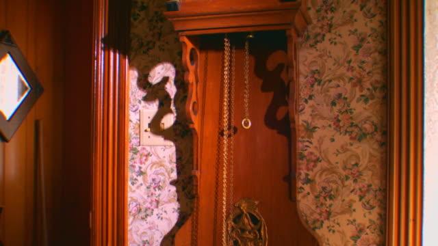 zeeland, michiganantique wall clock - 大時計点の映像素材/bロール