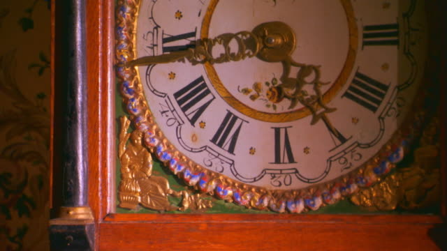 zeeland, michiganantique wall clock - antique stock videos & royalty-free footage