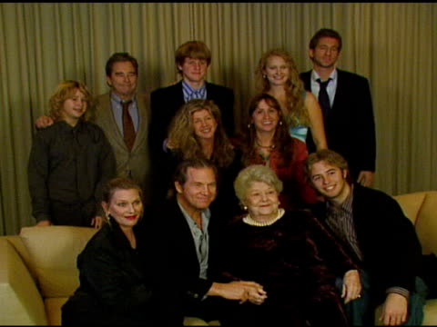 zeke bridges beau bridges tucker bridges hayley bridges marcel lloyd lucinda bridges wendy bridges susan geston jeff bridges dorothy bridges and... - hollywood entertainment museum stock videos & royalty-free footage