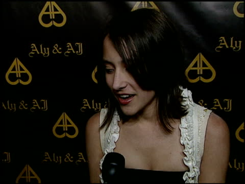 Zelda Williams on attending the partywhat she loves about Aly and AJ if she brought a present summer plans a birthday wish for the girls at the...