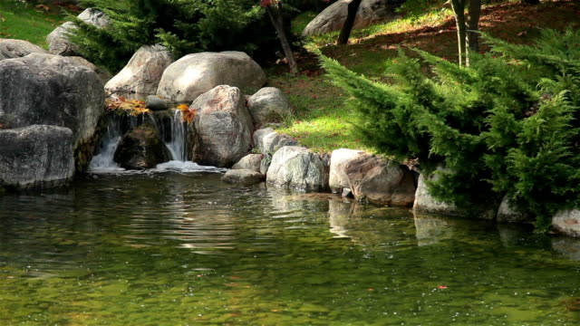 hd: zen garden - oriental garden stock videos and b-roll footage