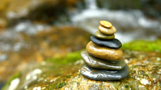 zen stones balance - chan buddhism stock videos & royalty-free footage