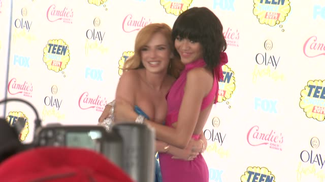 Zendaya and Bella Thorne at the Teen Choice Awards 2014 at The Shrine Auditorium on August 10 2014 in Los Angeles California