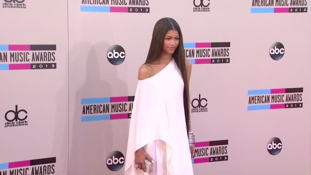 zendaya arrives at the 2013 american music awards arrivals - 2013 american music awards stock videos & royalty-free footage