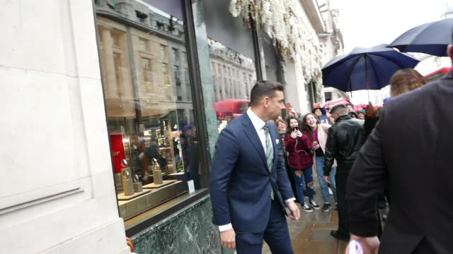zendaya arrives at the tommy hilfiger x zendaya collection launch event at the tommy hilfiger flagship store on regent st on march 03 2019 in london... - tommy hilfiger designer label stock videos and b-roll footage