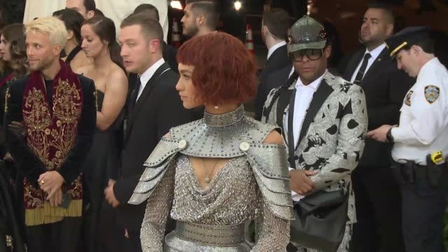 zendaya at heavenly bodies: fashion & the catholic imagination costume institute gala at the metropolitan museum of art on may 07, 2018 in new york... - gala stock videos & royalty-free footage