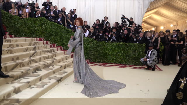 fashion the catholic imagination costume institute gala alternative views at the metropolitan museum of art on may 07 2018 in new york city - gala stock videos and b-roll footage