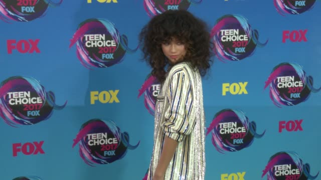 zendaya at teen choice awards 2017 in los angeles ca - annual teen choice awards stock videos & royalty-free footage