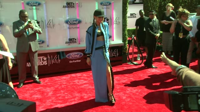 zendaya at the 2014 bet awards on june 29 2014 in los angeles california - bet awards stock videos and b-roll footage