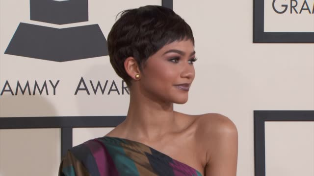 Zendaya at the 57th Annual Grammy Awards Red Carpet at Staples Center on February 08 2015 in Los Angeles California