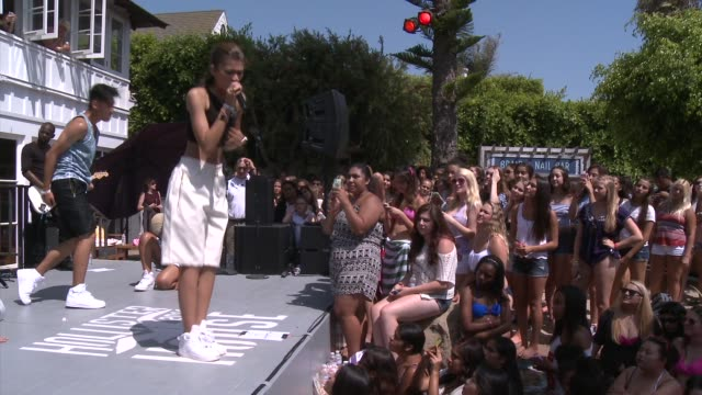 PERFORMANCE Zendaya at Zendaya Performs At The Hollister House in Los Angeles CA