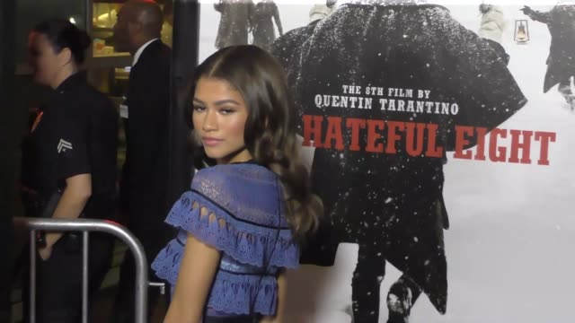 Zendaya Coleman at the Hateful Eight Premiere at ArcLight Theatre in Hollywood in Celebrity Sightings in Los Angeles