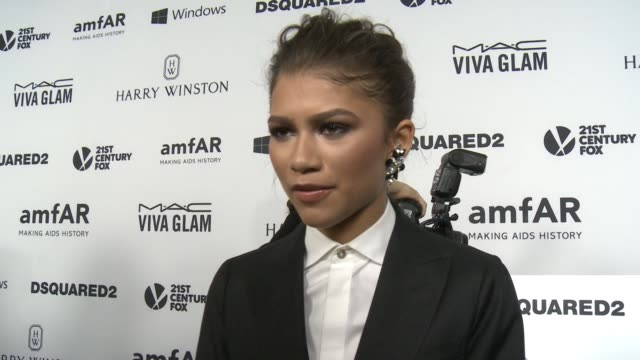 INTERVIEW Zendaya on why it was important for her to support amfAR at amfAR's Inspiration Gala Los Angeles 2015 in Los Angeles CA