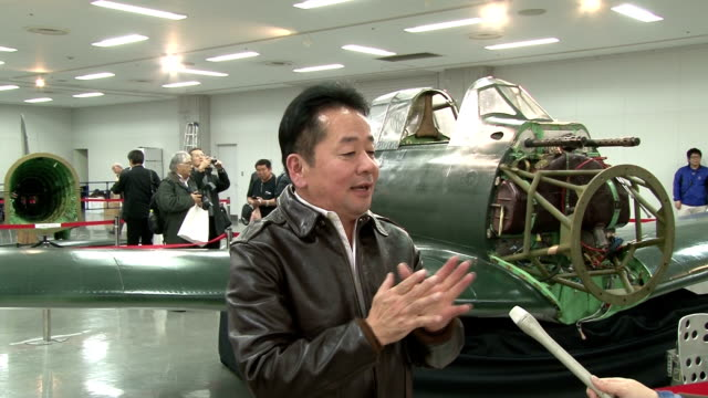 A zero fighter former Imperial Japanese Navy's main warplane returned to Japan and was shown to the press The body of the plane is currently divided...