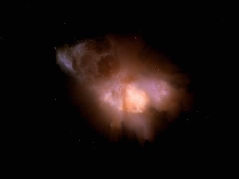 vídeos de stock, filmes e b-roll de zero gravity blue and gold starburst - zero gravity