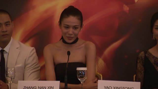 Zhang Nan Xin on her character at Chinese Zodiac Press Conference 65th Cannes Film Festival on May 18 2012 in Cannes France