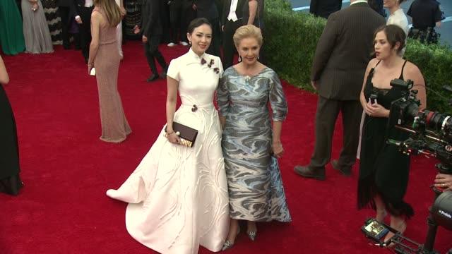 Zhang Ziyi and Carolina Herrera at 'China Through The Looking Glass' Costume Institute Benefit Gala Arrivals at Metropolitan Museum of Art on May 04...
