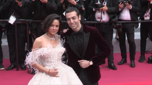 zhang ziyi gael garcia bernal diego luna michelle rodriguez mohammed al turki oliver ripley sara sampaio alain prost on the red carpet for the... - 72nd international cannes film festival stock videos and b-roll footage
