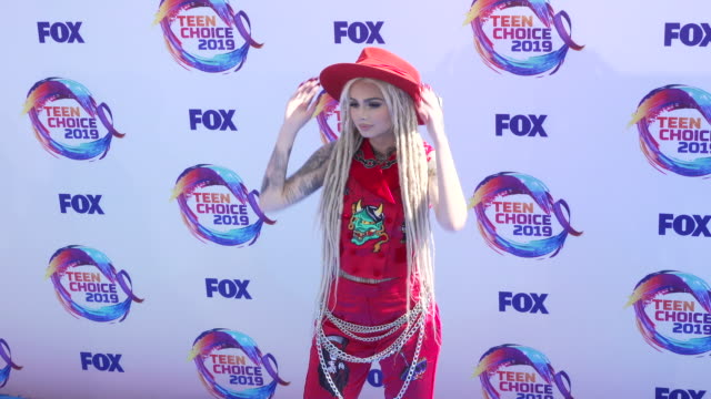 zhavia ward at the teen choice 2019 on august 11 2019 in hermosa beach california - annual teen choice awards stock videos & royalty-free footage