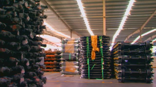 zhenjing, chinainventory stacked in warehouse - warehouse点の映像素材/bロール