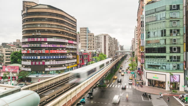zhongxiao fuxing time lapse - funky stock videos and b-roll footage