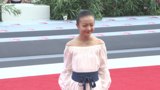 Zhou Meijun at 'Angels Wear White' Red Carpet 74th Venice International Film Festival at Palazzo del Cinema on September 07 2017 in Venice Italy