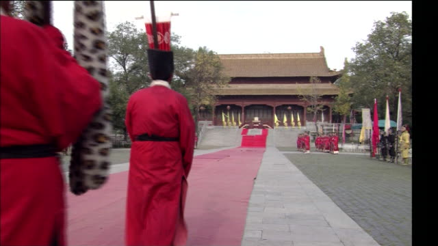 zhoutian palace - nanjing stock videos & royalty-free footage