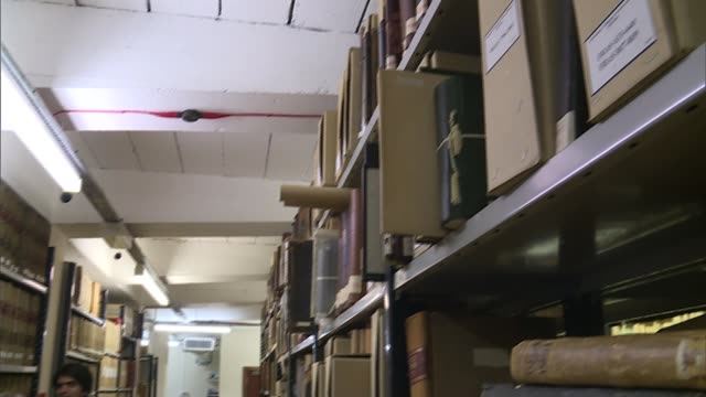 vidéos et rushes de historic documents of glasgow professor discovered; scotland: glasgow: university of glasgow: int moira rankin looking through archives with... - virus zika