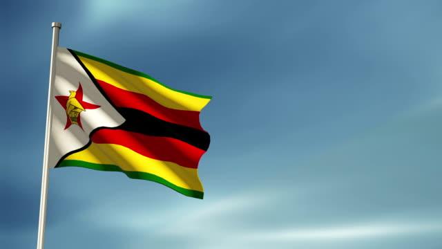 zimbabwe flag - flag stock videos & royalty-free footage