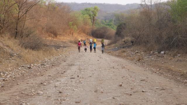zimbabwe, rural area - repubblica dello zimbabwe video stock e b–roll