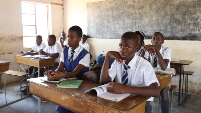 zimbabwe, school in a secluded area near chakari. - hemd und krawatte stock-videos und b-roll-filmmaterial