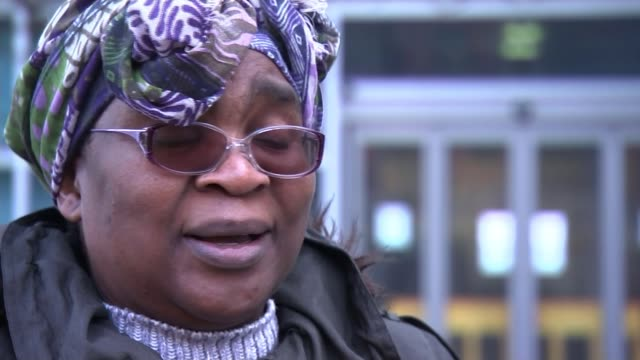 zimbabwean citizen marian machekanyanga living in uk fears deportation; uk, sheffield; anti-deportations protest, marian machekanyanga interview,... - sheffield stock videos & royalty-free footage