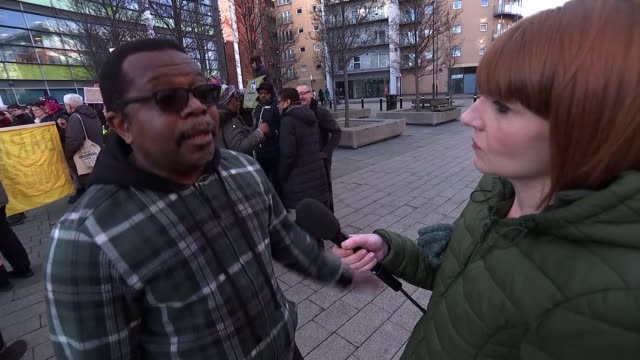 Zimbabwean citizen Marian Machekanyanga living in UK fears deportation UK Sheffield antideportations protest Victor Mujakachi interview Marian...