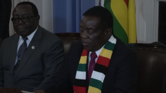 zimbabwean president emmerson mnangagwa brushes off allegations that his election victory was tainted by fraud hailing the vote as a fresh start for... - zimbabwe stock videos & royalty-free footage