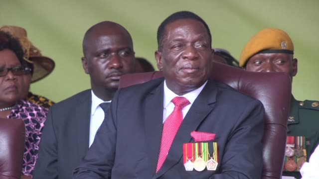 zimbabwean president emmerson mnangagwa survives a blast at a ruling zanu pf party rally his spokesman says adding that he had been taken to safety... - political rally stock videos & royalty-free footage