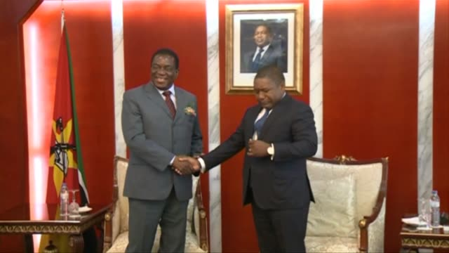Zimbabwean President Emmerson Mnangagwa visits Mozambique to meet with his counterpart